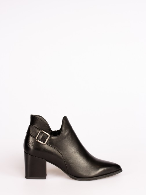 Leather Ankle Boots with Lace