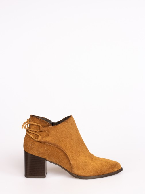Suede Ankle Boots with Lace