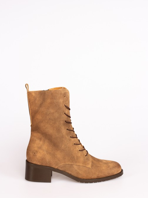 Suede High-heel Ankle Boots