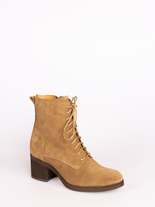Suede High-heel Ankle Boot