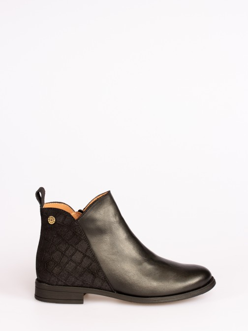 Croco Leather Boots