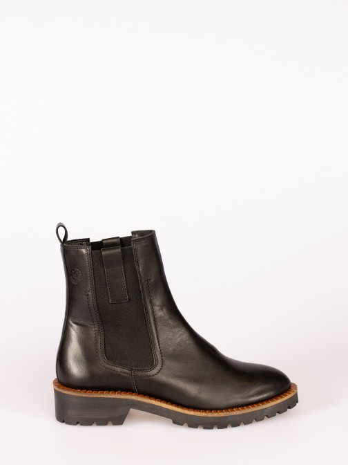 Leather Ankle Boot with Side Elastics
