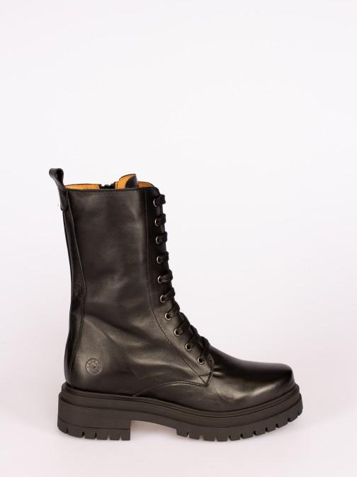 Leather Lace-up  Platform Boots