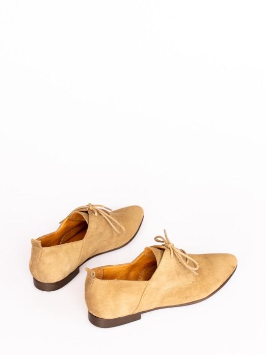 Sapato Atacador em Camurça