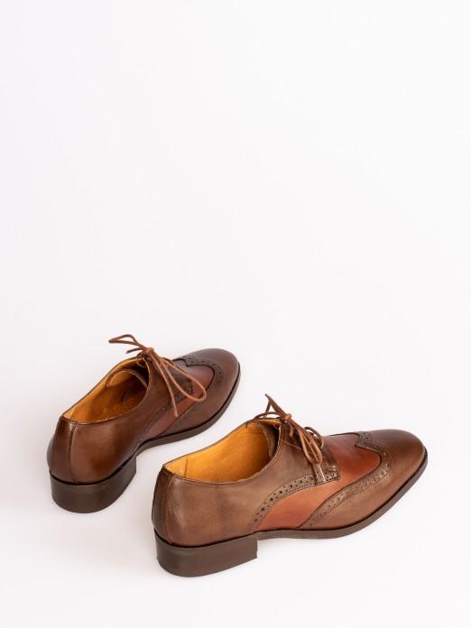 Sapato Oxford Pele Bicolor