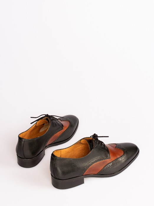 Oxford Bicolor Leather Shoes