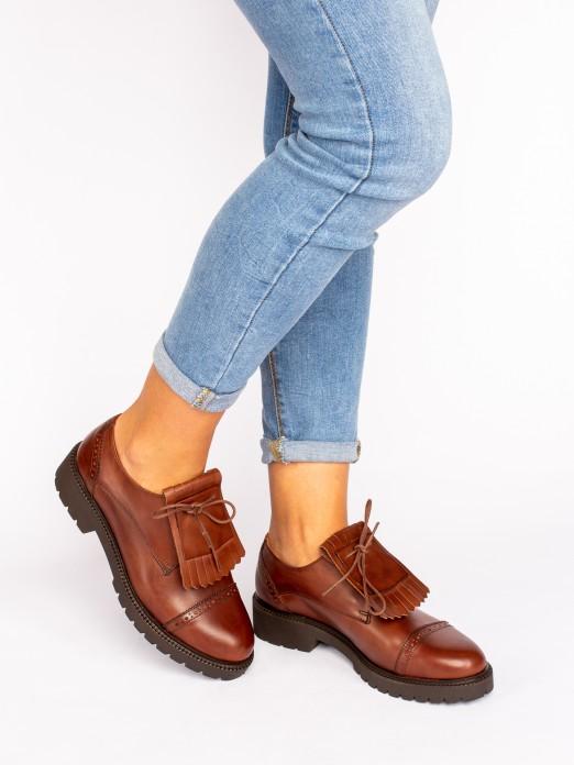 Sapato Pele com Franjas