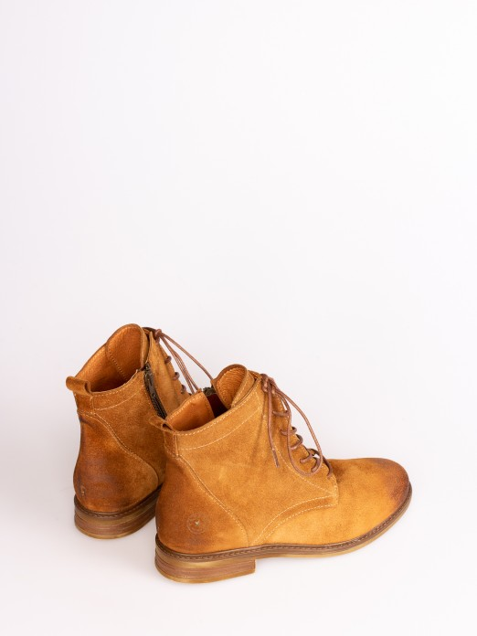 Suede Oxford Ankle Boots