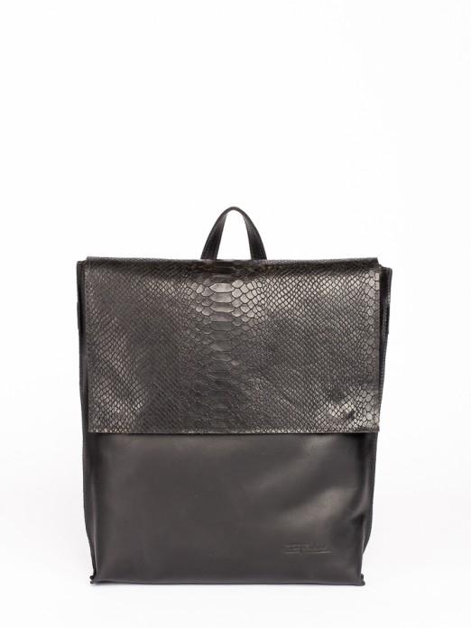 Engraved Anaconda Leather Backpack