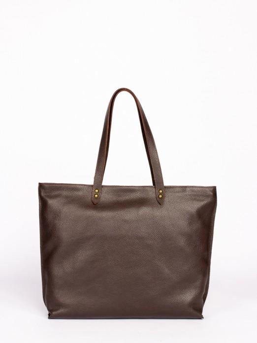Animal-Print Leather Tote Bag