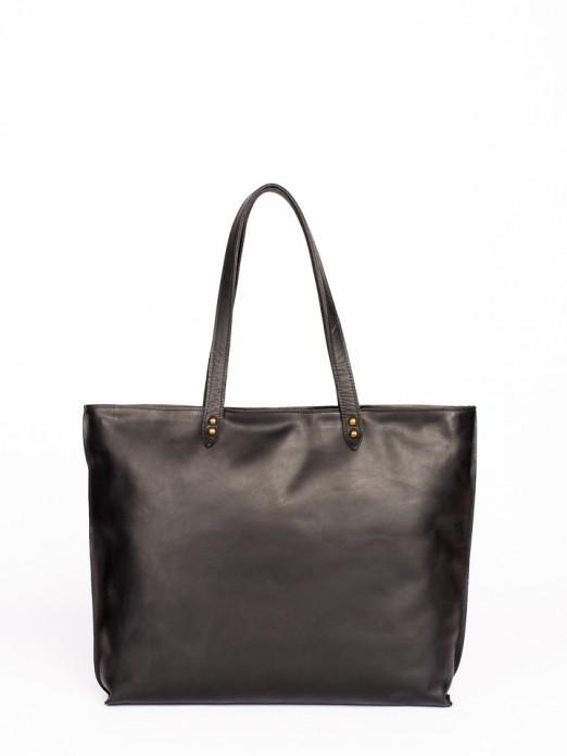 Engraved Anaconda Leather Tote Bag