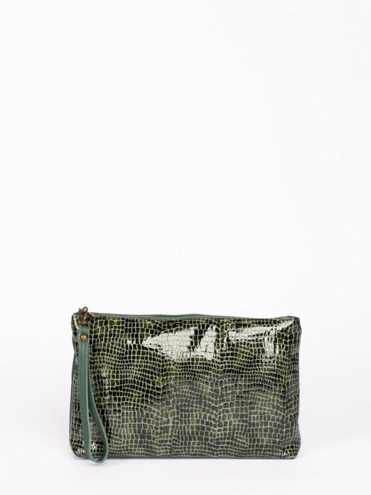 Engraved Leather Handbag