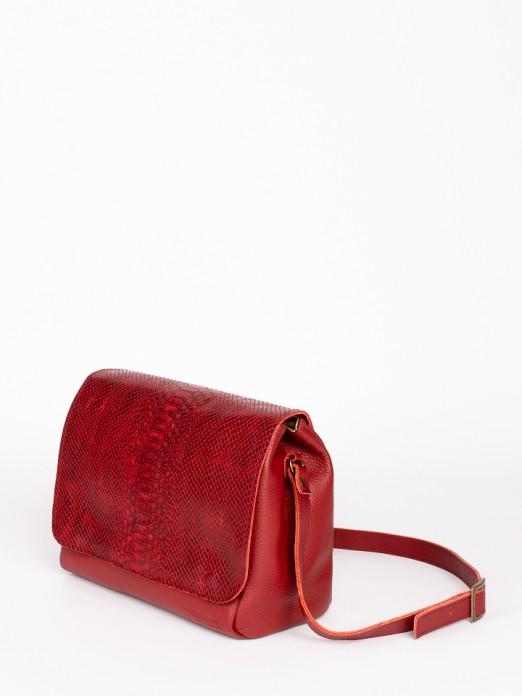 Engraved Anaconda Crossbody Bag
