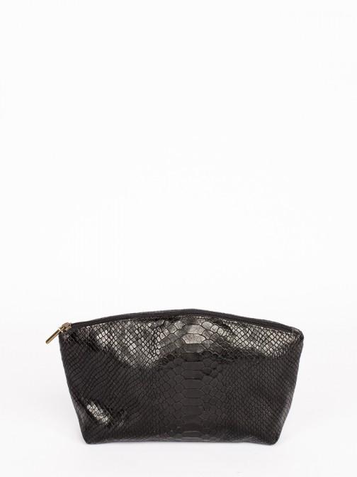 Engraved Anaconda Leather Large Purse