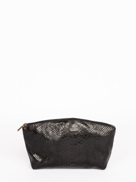 Bolsa Grande em Pele com Gravado Anaconda