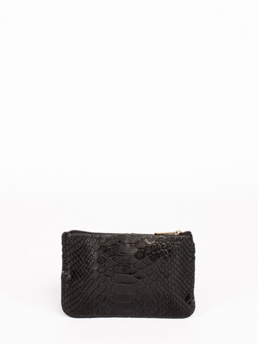 Engraved Anaconda Leather Small Wallet
