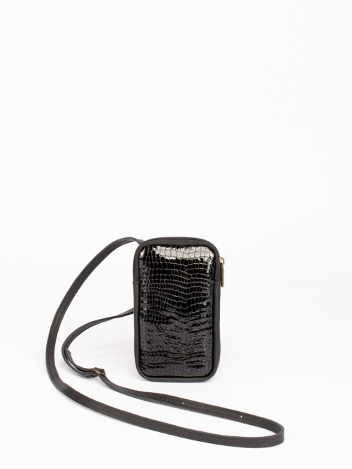 Engraved Croco Leather Mobile Phone Bag