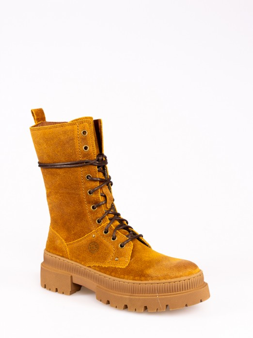 Suede Mid-calf Boots
