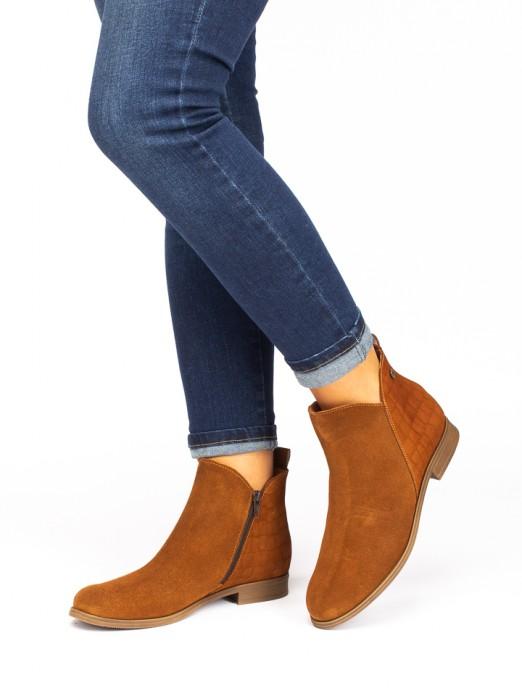 Crocodile  Suede Boots